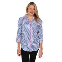 Maisie Blue Women's Sleep Shirt by Malabar Bay