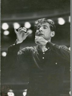 """Leonard Bernstein Conducting Rehearsal of NY Philharmonic in Hindemith's """"Mathis de Mahler"""" Premium Photographic Print by Alfred Eisenstaedt at AllPosters.com"""