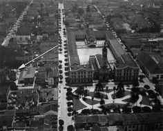 Aerial view from Campos Eliseos district in 1928 Sao Paulo - Brazil