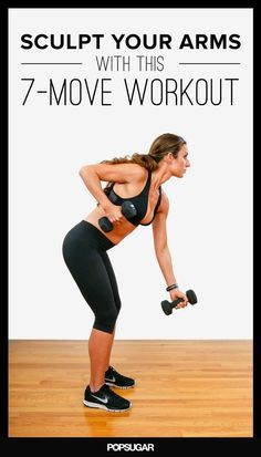 A fun and effective arm workout to help you build strength and sculpt the defined arms you're pining after. Repeat this seven-move circuit three times for a complete arm workout. Lower Ab Workouts, Easy Workouts, Circuit Workouts, Dumbbell Workout, Workout Routines, Fitness Workouts, Cheer Workouts, Killer Workouts, Butt Workouts