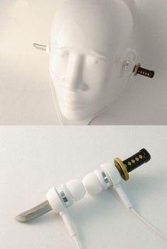 Samurai In-Ear Headphones on http://www.drlima.net
