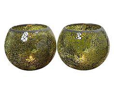 """Komplet 2 świeczników """"Mosaik"""", wys. 13, Ø 15 cm"""