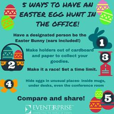 Easter gift for employees attempts at pinterest pinterest office easter fun ideas for an easter egg hunt in the workplace from eventerprise negle Images