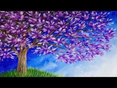 Blossoming Tree Acrylic Painting Time-lapse Demo