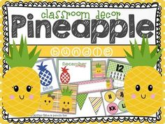 I don't know about you, but this pineapple craze has me so excited! I have always had a love for pineapples. In the South the Pineapple is a symbol of welcome and hospitality. What better than to use pineapples to welcome kids into your classroom?!