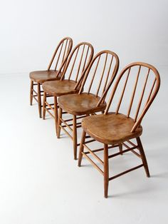 Antique spindle bow back chair set of 4  wood dining chairsSet of 4 Vintage Spindle Chairs Painted Wood by ThePaintedLdy  . Antique Windsor Dining Chairs For Sale. Home Design Ideas