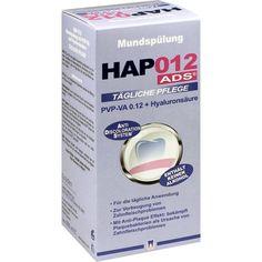 HAP012 PVP-VA 0,12+Hyaluronsäure Mundspülung:   Packungsinhalt: 200 ml Flaschen PZN: 10783517 Hersteller: CURADEN SWISS GmbH Preis: 8,07…