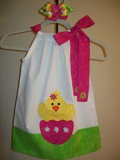 SUCH a cute little girls Easter dress!