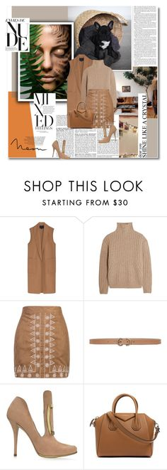 """nude"" by aanyaa ❤ liked on Polyvore featuring BCBGMAXAZRIA, Alexander Wang, Totême, WithChic, Max Studio, Balmain, Givenchy and neutrals"