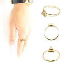 【楽天市場】リング 指輪 レディース 激安 300円 アクセサリー ネオギャルトライアングルモノトーンカラーリング[Mignon de Bijoux][ミニョンドゥビジュー]:Mignon de Bijoux