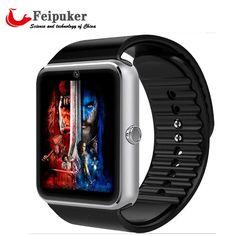 Smart watch gt08時計でsimカードスロットプッシュメッセージbluetooth接続アンドロイド電話よりも優れdz09スマートウォッチ
