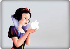 Snow White macbook decal sticker