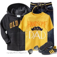 """""""Toddler Boy's Outfit: Handsome Like Dad"""" by angiejane on Polyvore"""