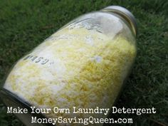 Homemade Powdered Laundry Detergent with essential oils!