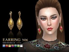 Earring 06(f) by S-Club LL at TSR • Sims 4 Updates