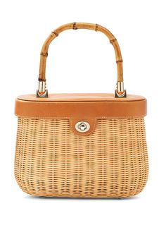 09aae6c4698 Natural Ava Bamboo Handle Wicker Satchel - Women s New Arrivals    JMcLaughlin.com Fashion Over
