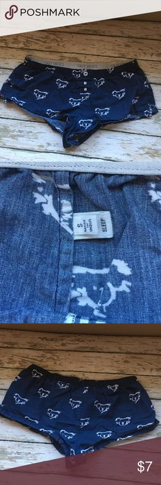 GILLY HICKS NAVY BLUE SLEEP SHORTS Size SMALL, Koala print, BLUE & WHITE. USED BUT STILL IN GOOD CONDITION, very comfy and cute Gilly Hicks Intimates & Sleepwear Pajamas