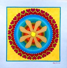 371 Mandala -  My Spiritual Footprint in the World, made by Miekrea NL - Febr. 2015 (used: crayons)