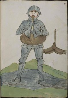 Knight with swimming ring. Krieg's Buch, 1496, uncredited