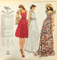 Page from a 1974 Vogue Patterns catalog. #voguepatterns #70sfashion #vintagesewing