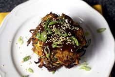 scallions, sesame and a mahogany sauce by smitten, via Flickr