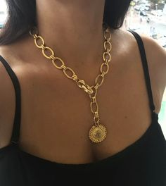 Gold Coin Necklace, Lariat Necklace, Chunky Chain Necklaces, Silver Necklaces, Layering Necklaces, Couple Necklaces, Layered Necklace, Ring Verlobung, Necklace Types