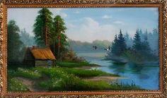 Дом на озере - Летний пейзаж <- Картины маслом <- Картины - Каталог | Универсальный интернет-магазин подарков и сувениров