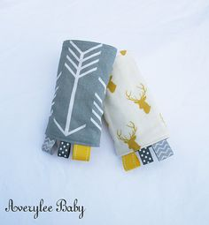 Arrows Reversible Drool Pads, Tula Arrows with Elks, Suck Pads, Baby Carrier Accessories by AveryleeBaby