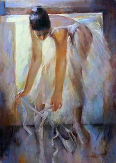 Antonio Duarte, Portuguese painter, was born in Portugal where he graduated from Escola Artes Plasticas of Coimbra and Escola De. Ballerina Painting, Ballerina Art, Ballet Art, Ballet Girls, Ballet Dance, Woman Painting, Painting & Drawing, Figure Painting, Avant Scene