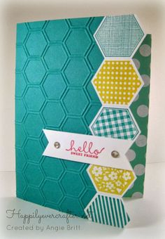 Stampin Up Hello Sweet Friend Card by happilyevercrafter on Etsy, $3.25