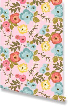 Bloom Blush Wallpaper by Clairebella