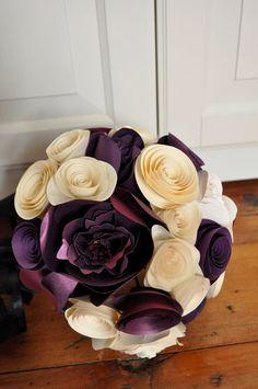 Bridal Bouquet Paper flower Bouquet alternative by lillesyster
