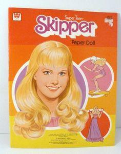 1980 Skipper paper doll.