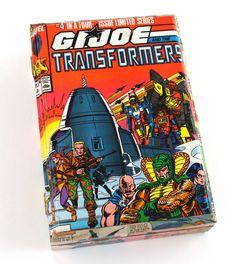 Vintage G.I. Joe and The Transformers comic book cigar box from Paper Vs. Glue