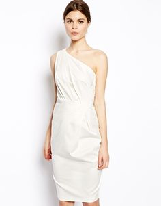 Shop ASOS Folded One Shoulder Dress. With a variety of delivery, payment and return options available, shopping with ASOS is easy and secure. Shop with ASOS today. Low Key Wedding Dress, Bridal Wedding Dresses, Short Lace Bridesmaid Dresses, Strapless Dress Formal, Asos, Little White Dresses, Special Occasion Dresses, Fashion News, Fashion Dresses