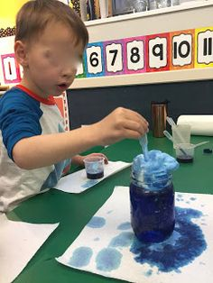 Science for 3-5 year-olds?  You bet!  This simple experiment will have your Preschool and Pre K students engaged and amazed!  Storm Clouds in a Jar! Preschool science at it's best!