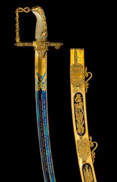A Very Fine Lloyd's Patriotic Fund Trafalgar Sword of £100 Value to John Conn Esq., Captain of H.M.S. Dreadnought