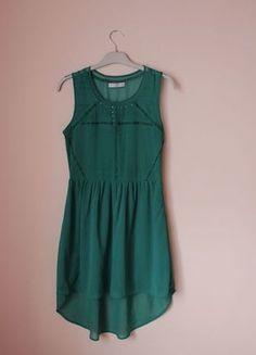 Kup mój przedmiot na #vintedpl http://www.vinted.pl/damska-odziez/krotkie-sukienki/11765324-turkusowa-sukienka-asymetryczna-bershka-zwiewna