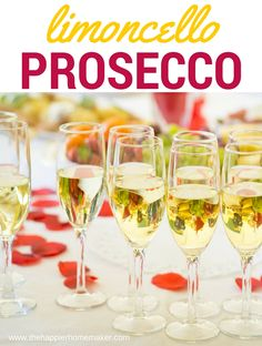 This delicious 2 ingredient Limoncello Prosecco Cocktail Recipe is the perfect drink to ring in the new year!