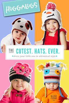 Any fashionista knows accessories complete the outfit.  With oodles of knit hats for babies and kids, your search for the right beanie ends here.  Have a look at adorable styles for boys and girls.  They make a perfect baby shower gift too!