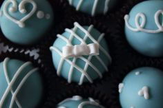 tiffani themed cookies | Tiffany & Co. Themed Cookie Dough Truffles // Bridal Shower Truffles ...