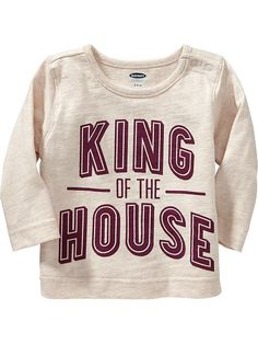"""""""King of the House"""" Tees for Baby Product Image"""