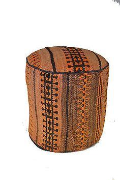 Rug Pouf / Rug Sitting Stool Ottoman made of vintage kilim rug # 26