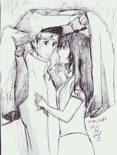 Shino y mako en un día de lluvia shino esta nerviosito jeje...