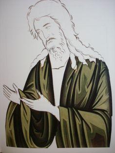 John the Baptist shading Byzantine Icons, Byzantine Art, Icon Clothing, Saint Jean Baptiste, Painted Clothes, John The Baptist, Orthodox Icons, Painting Process, Christian Art
