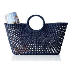 Mark & Graham Sunburst Beach Tote, Navy (2.885 RUB) ❤ liked on Polyvore featuring home and outdoors