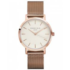 Mercer Roségouden Dameshorloge - Roségouden Mesh Band | ROSEFIELD WATCHES