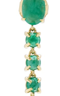 Liliya Earrings Emerald, 4.65ct, 14K Recycled Yellow Gold | Moda Operandi