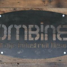 Modern Industrial/Vintage Style Custom Signs. Urban. Steel/Reclaimed Wood. Signage. Many Options. by Lee Cowen