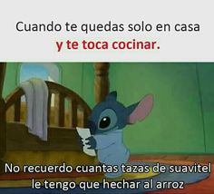 English when you stay home alone and you have to cook I don't remember how many cups of Suavitel I have to add to the rice Funny Spanish Memes, Spanish Humor, Funny Images, Funny Pictures, Mexican Memes, Comedy Central, Lilo And Stitch, Best Memes, Funny Posts